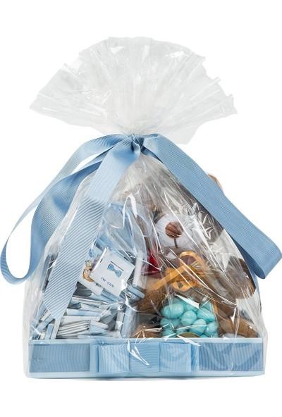 Melodi Çikolata Sevimli Ayıcık İyi Ki Doğdun Çikolatası Mavi 1150 g