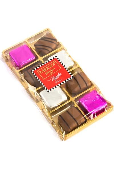 Melodi Çikolata Viyola Çeşnili Pralin Çikolata