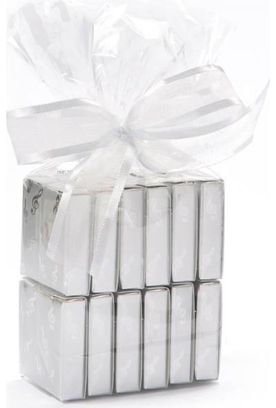 Melodi Çikolata Gümüş Nota Fıstıklı Çikolata 200gr