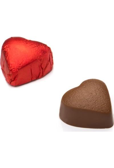 Melodi Çikolata Yaldızlı Mini Kalp Çikolata 500gr