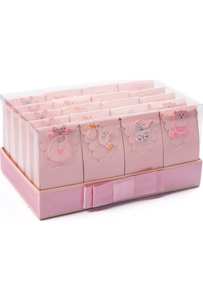 Melodi Çikolata Bebek Seti Pembe - Kız Bebek Çikolatası