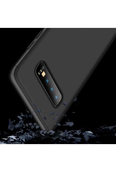 Case 4U Samsung Galaxy S10 Plus Kılıf 360 Derece Korumalı Tam Kapatan Koruyucu Sert Silikon Ays Arka Kapak Siyah