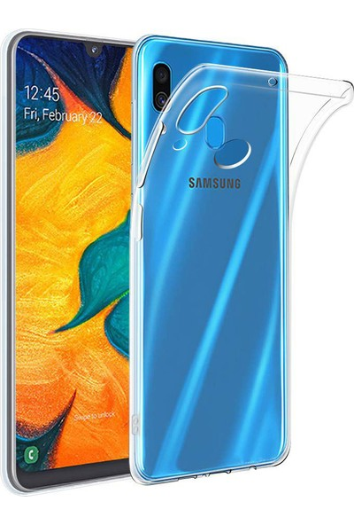 Case 4U Samsung Galaxy A20 - A30 Kılıf Süper Silikon Arka Kapak Şeffaf