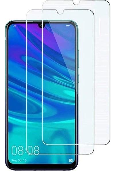 Case 4U Huawei Y6 2019 Temperli Cam Ekran Koruyucu Şeffaf
