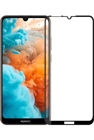 Case 4U Huawei Y6 2019 Tam Kaplayan Ekran Koruyucu Fiber Nano Siyah