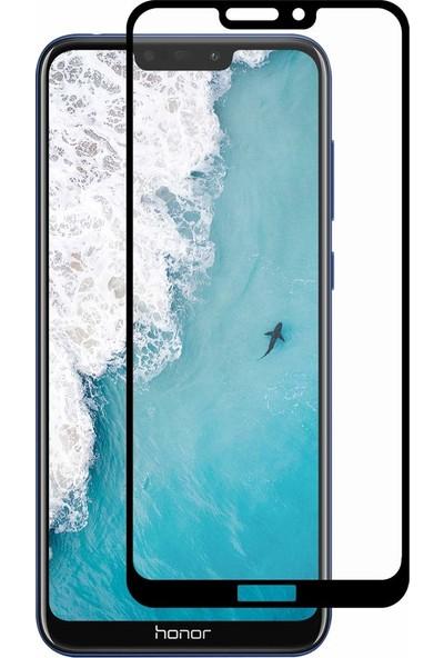 Case 4U Honor 8C Tam Kaplayan Ekran Koruyucu Fiber Nano Siyah