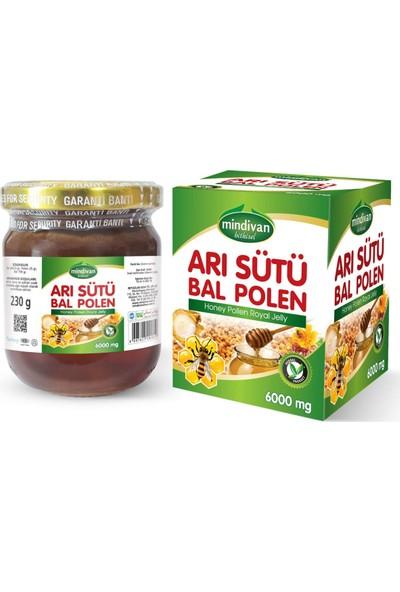 Mindivan Arı Sütü Bal Polen (Normal) 230 gr