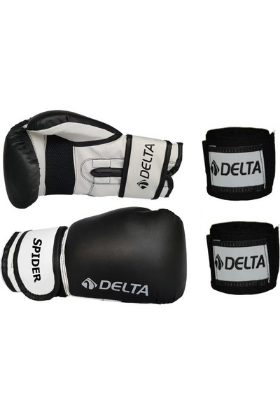 Delta Spider Dura-Strong Boks Eldiveni + Boks El Bandajı Seti