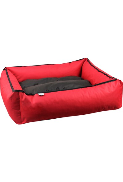 Ankafkex Sıvı Geçirmez Kırmızı Köpek Yatağı 75 x 65 cm