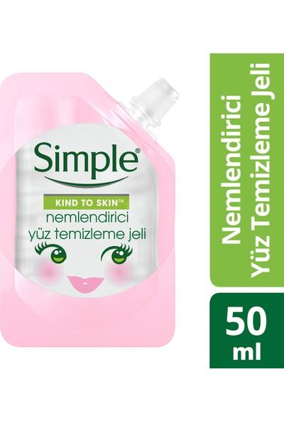 Simple Mini Nemlendirici Yüz Temizleme Jeli 50 ml
