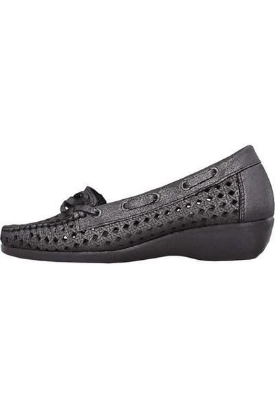 Mammamia 3460 Hakiki Deri Kadın Ayakkabısı Confort