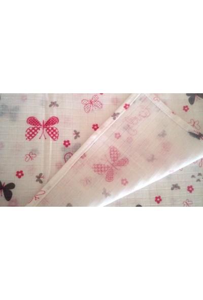 Başaran Tekstil Pembe Kurdelalı Müslin Çok Amaçlı Bebek Battaniyesi, Çok Amaçlı Örtü