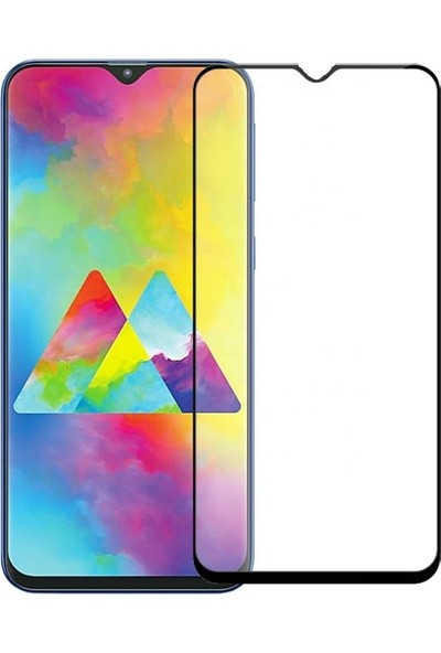Cepaksesuarcim Samsung Galaxy M20 Tam Kaplayan 5D Ekran Koruyucu Cam