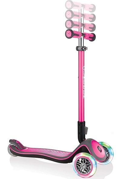 Globber Scooter Elite Deluxe Işıklı Pembe