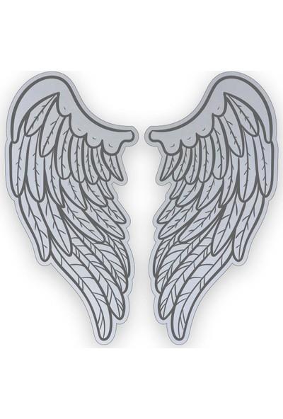 Çınar Extreme Cherubim Melek Kanat Reflektif Sticker