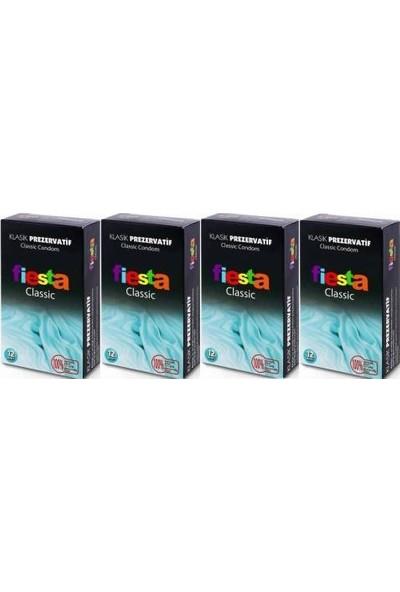 Fiesta Kondom Klasik Prezervatif 12 li 4 Kutu (48 Adet)