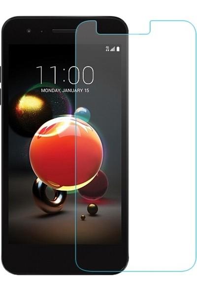 Ehr. LG K9 Nano Ekran Koruyucu Cam + Şeffaf Silikon Kılıf