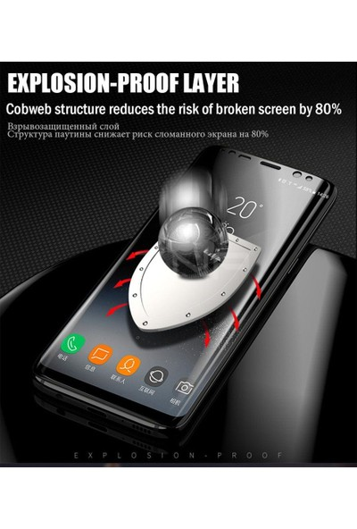 Ehr. Huawei Honor 7C 5D Full Nano Ekran Koruyucu Cam - Siyah