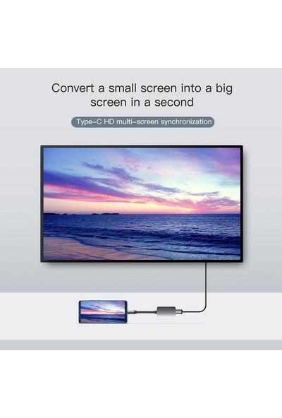 Baseus Little Box Type-C To HDMI + Type-C Pd Mini High-Definition Smart Hub Converter Dark Gray