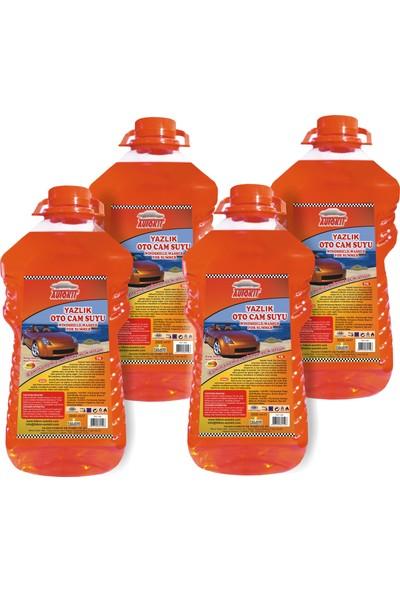 Autokit Yazlık Oto Cam Suyu 3 lt Mango Kokulu 4 Adet