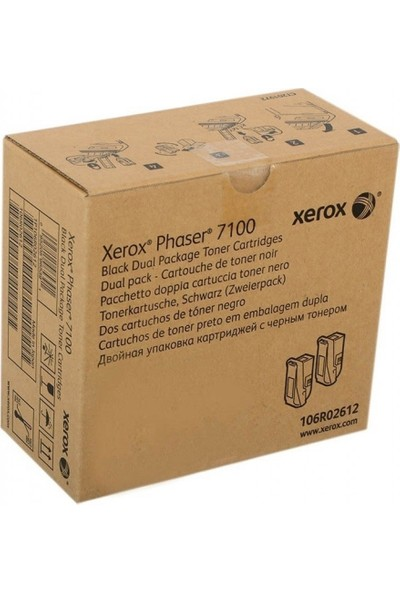 Xerox Phaser 7100 Siyah Toner 106R02612