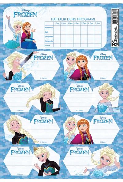 Frozen Ders Programlı 3Lü Etiket
