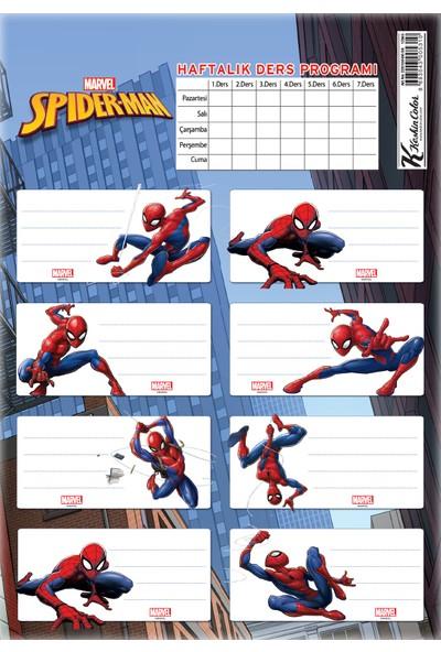 Spider-Man Ders Programlı 3Lü Etiket
