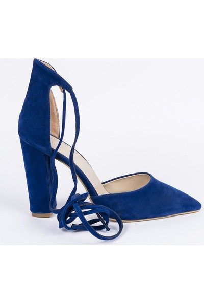 Jabotter Saks Süet Topuklu Ayakkabı 10 Cm