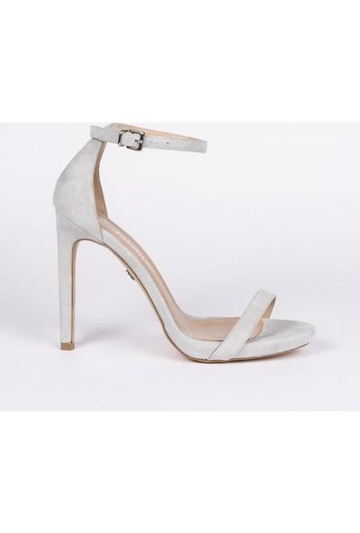Jabotter Elegant Gri Süet 12 Cm Topuklu Ayakkabı
