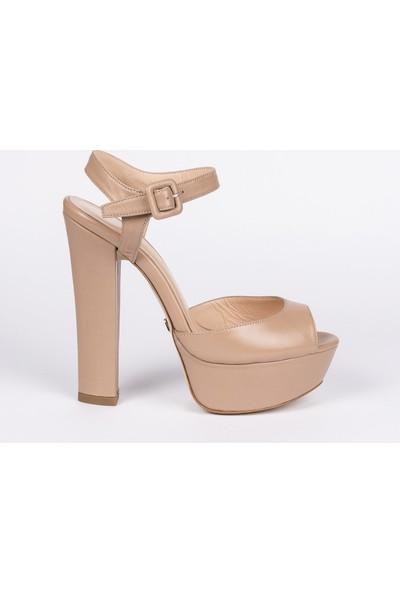 Jabotter Nifty Karamel Deri Platform Topuklu Ayakkabı