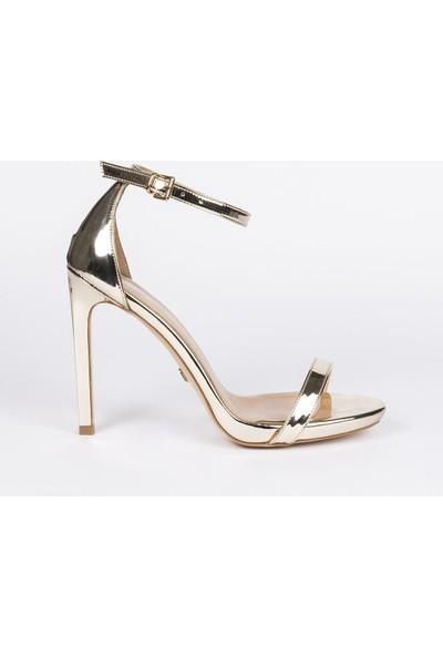 Jabotter Elegant Altın Ayna 12 Cm Topuklu Ayakkabı