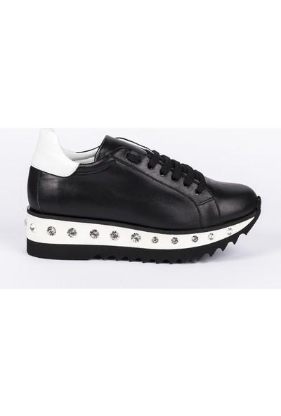 Babe Siyah Beyaz Spor Ayakkabı