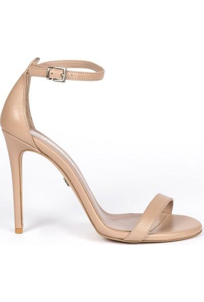 Elegant Mini Karamel Deri 10 Cm Topuklu Ayakkabı