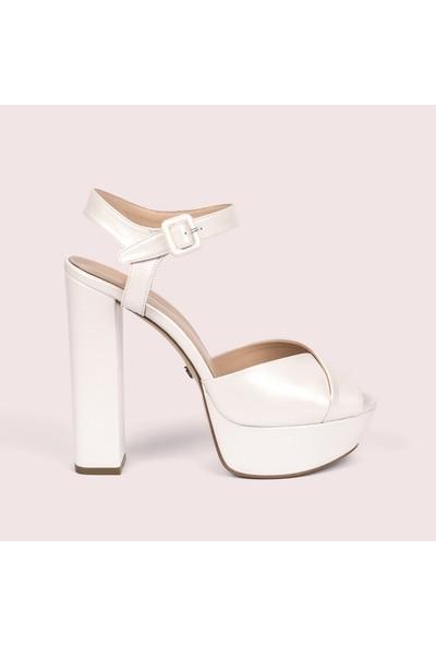 Jabotter Carla Sedefli Beyaz Gelin Ayakkabısı
