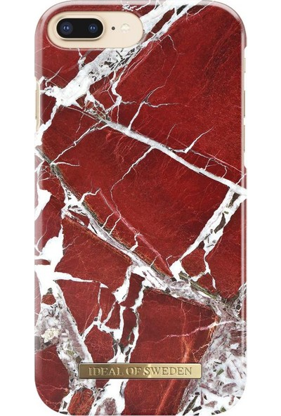 Ideal of Sweden iPhone 7 Plus / 8 Plus Scarlet Red Marble Arka Kapak