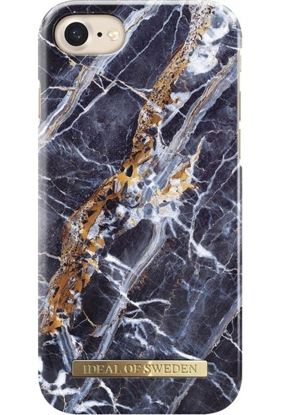 Ideal of Sweden iPhone 8-7-6s-6 Midnight Blue Marble Arka Kapak