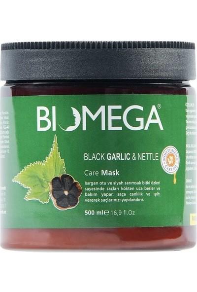 Biomega Isırgan Otu ve Siyah Sarımsaklı Bakım Maskesi 500 ml