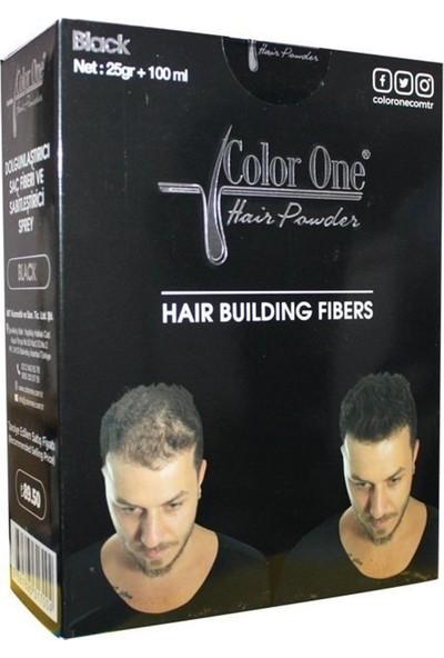 Color One Hair Powder Black Dolgunlaştırıcı Saç Fiberi.25 gr +100 ml