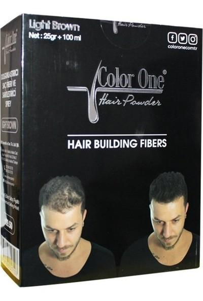 Color One Hair Powder Light Brown Dolgunlaştırıcı Saç Fiberi.25 gr +100 ml