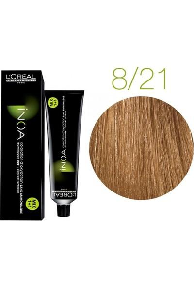 L'Oréal Professionnel İnoa Saç Boyası 8,21 60 gr