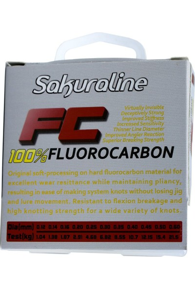 Sakura FC %100 Fluorocarbon Misina 50 Mt