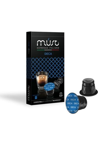 Must Espresso Italiano Deca – Nespresso Uyumlu Kahve Kapsülleri