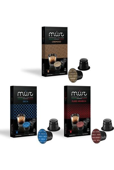 Must Espresso Italiano 3'lü Nespresso Uyumlu Kapsül Kahve Deneme Seti