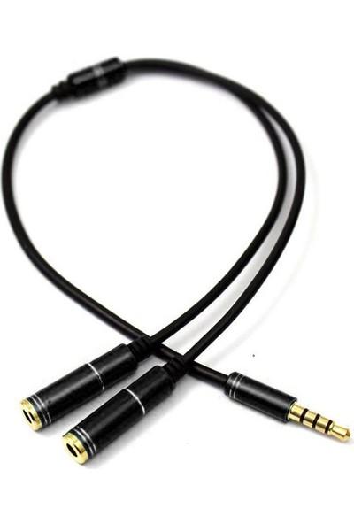 Microcase 3.5 mm Çift Çıkışlı Kulaklık Çoğaltıcı Kablo - 35 cm Siyah - Model No : AL2312