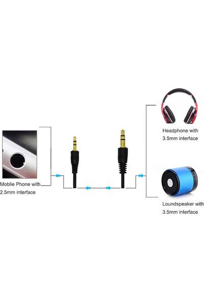 Microcase 2.5 mm To 3.5 mm Aux, Kulaklık Bağlantı Kablosu 1 mt Siyah - Model No : AL2307