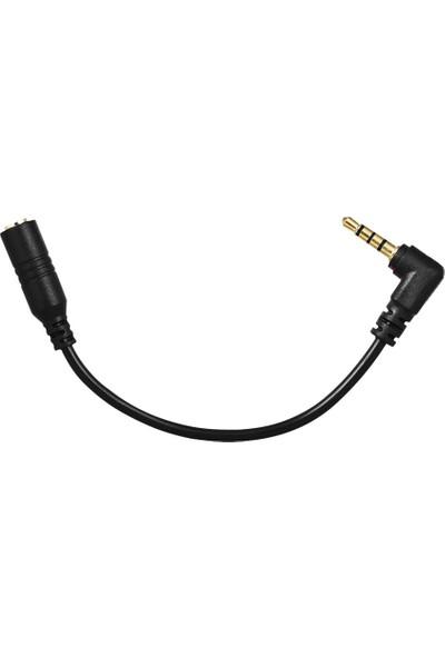 Microcase 3 Boğum - 4 Boğum Çevirici 2.5 mm Girişli Dslr Kameraya Mikrofon Bağlama Kablosu - Model :AL2314