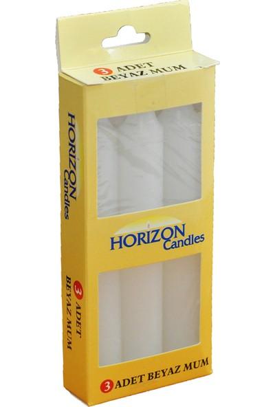 Horizon Mum Bakkal Mum Beyaz 3'lü 1208
