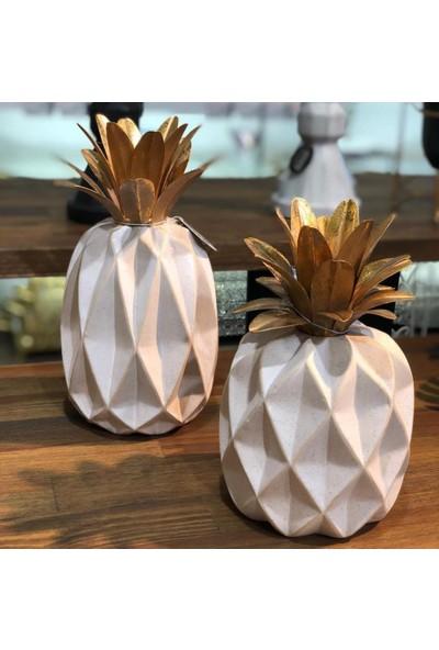 Kokosh Home 2Li Lüks Dekoratif Ananas