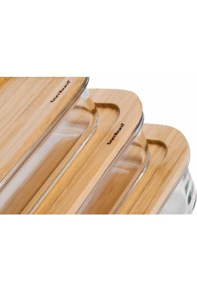 Bst Bambum Lavi - Dikdörtgen 3'Lü Saklama Kabı Set