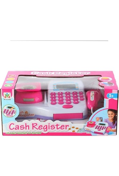 Cash Register Oyuncak Market Kasası Pilli Sesli Pembe 30 x 13 cm